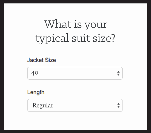 Sizing survey